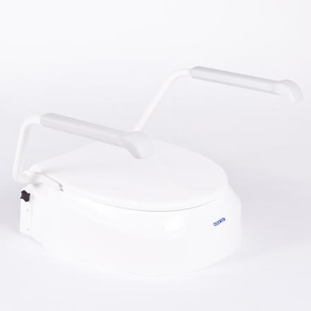 Ausilio Bagno Invacare rialzo WC Aquatec 900 con braccioli