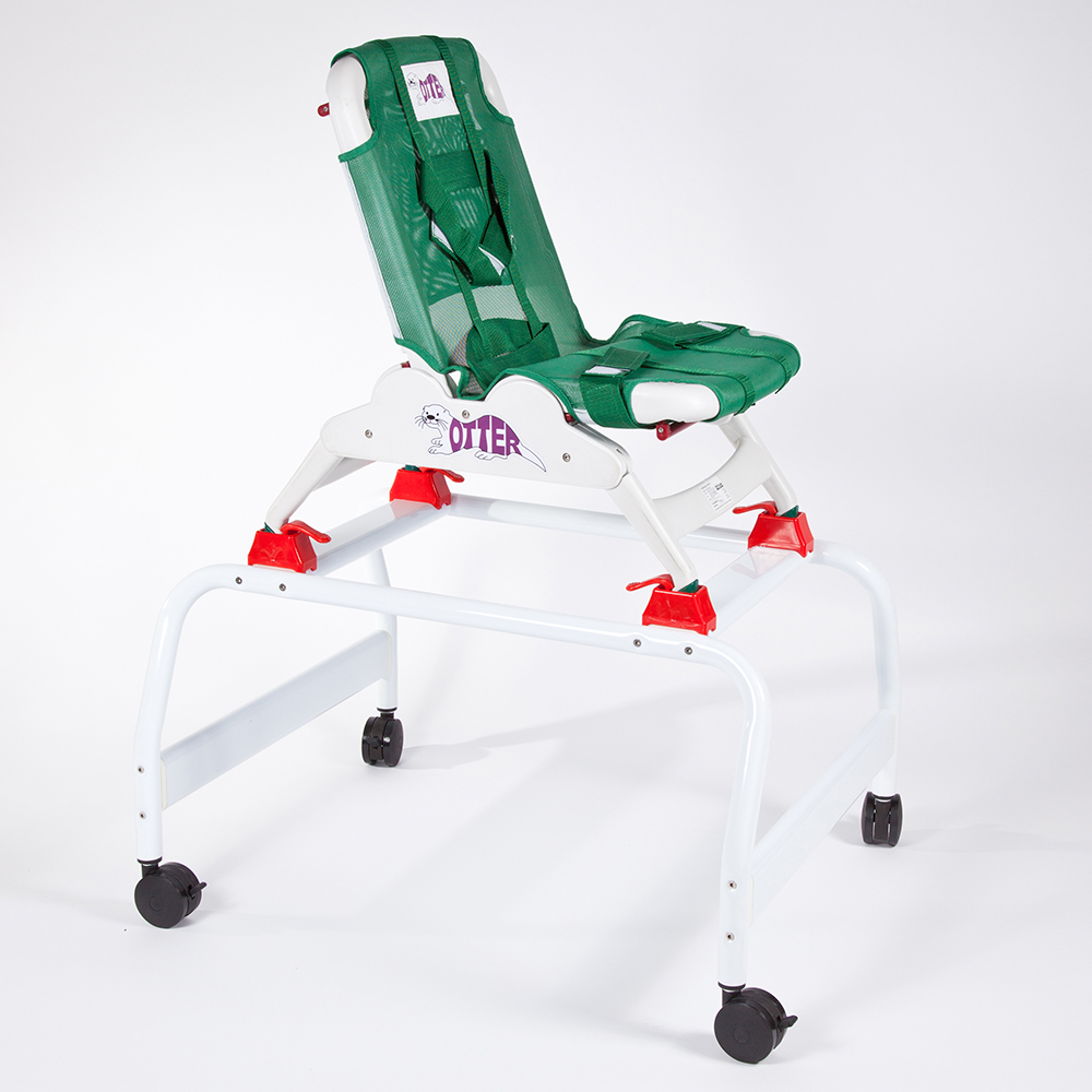 Ausilio bagno Allmobility Base universale mobile con Sdraietta Fochetta Otter