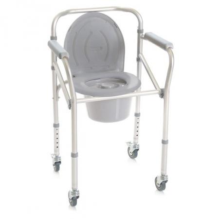 Ausilio Bagno Moretti sedia comoda 4 in 1 smontabile su ruote