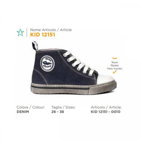 scarpa duna lacci kid12151 denim
