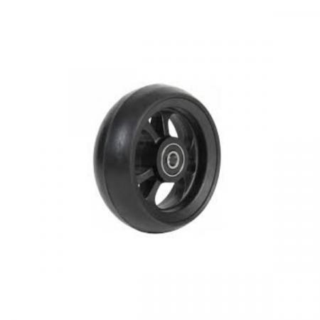 Ruota in fibra con cerchio nero gomma nera