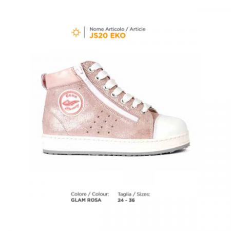 scarpa duna lacci JS20 eko glam rosa