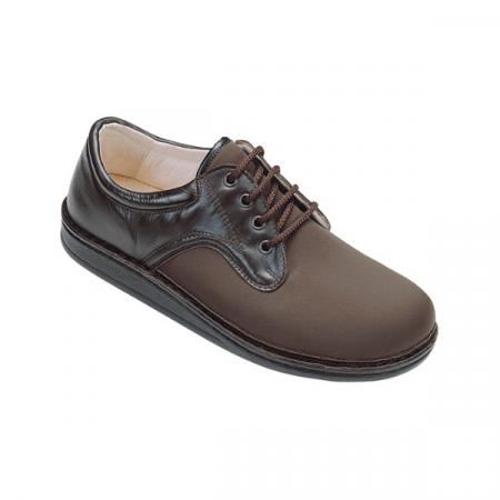 scarpa uomo lacci marrone ecosanit automodellante