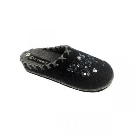 pantofola inverno miles ricamo ecosanit