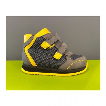 scarpa ortopedica duna jw01 happy velcro piombo giallo